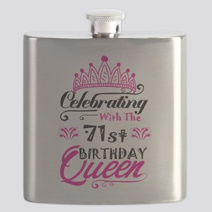 Celebrating With the 71st Birthday Queen Flask