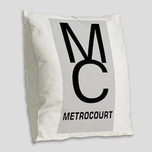 GeneralHospitalTV Metro Court Burlap Throw Pillow