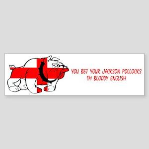 Cockney Rhyme Bulldog Bumper Sticker