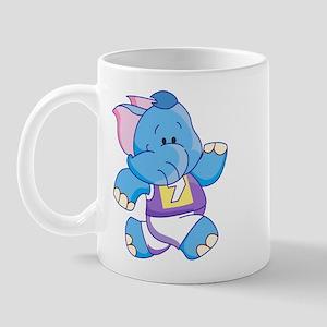 Lil Blue Elephant Runner Mug