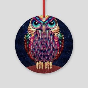 Owl 2 Round Ornament