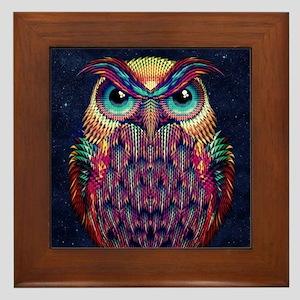 Owl 2 Framed Tile