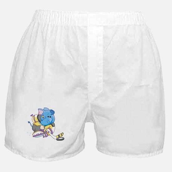 Lil Blue Elephant Hockey Boxer Shorts