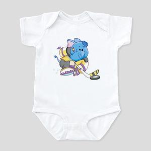 Lil Blue Elephant Hockey Infant Bodysuit