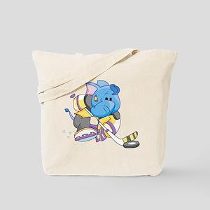 Lil Blue Elephant Hockey Tote Bag