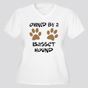 Owned By A Basset Hound Women's Plus Size V-Neck T