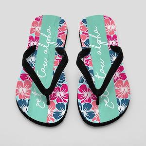 Zeta Tau Alpha Floral Flip Flops