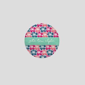 Zeta Tau Alpha Floral Mini Button