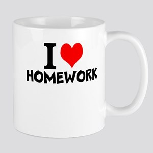 I Love Homework Mugs