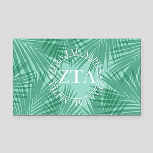 Zeta Tau Alpha Leaves Rectangle Car Magnet