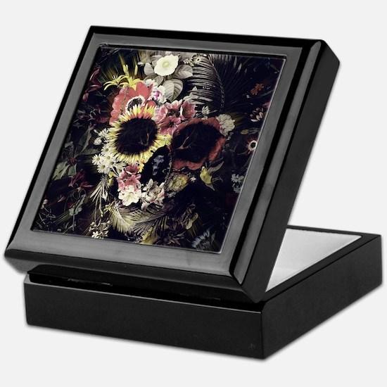 Garden Skull Keepsake Box