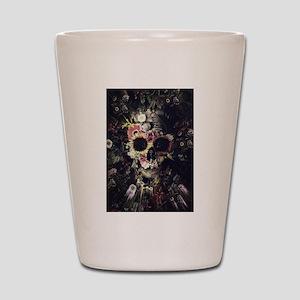 Garden Skull Shot Glass