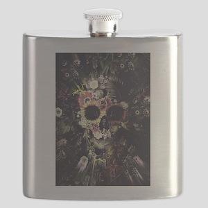 Garden Skull Flask