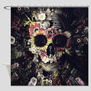 Garden Skull Shower Curtain