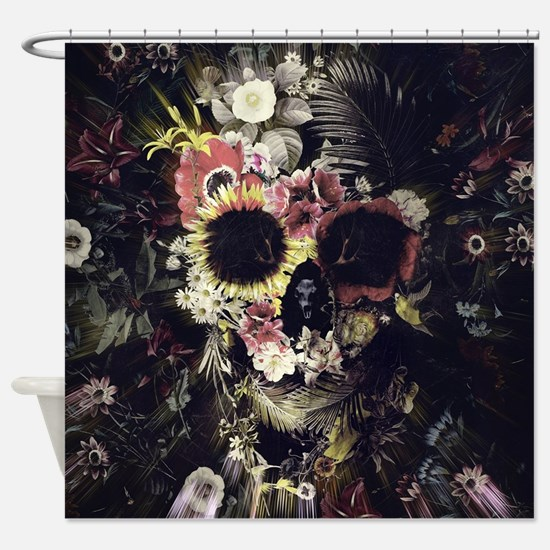 Garden Skull Shower Curtain