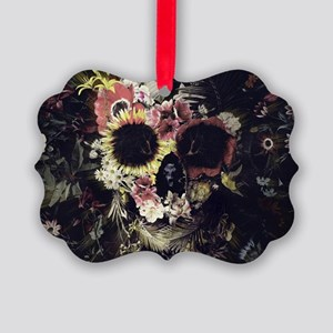 Garden Skull Picture Ornament