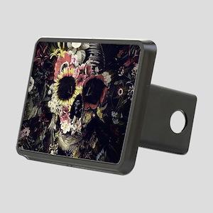 Garden Skull Rectangular Hitch Cover