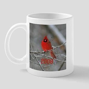 08 Red Cardinal Christmas Mug