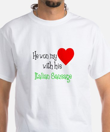 Won My Heart Italian Sausage T-Shirt