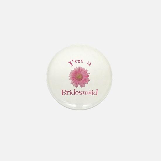 Daisy Bridesmaid Mini Button