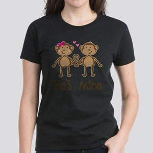 Monkey Couple Ladies T-Shirt