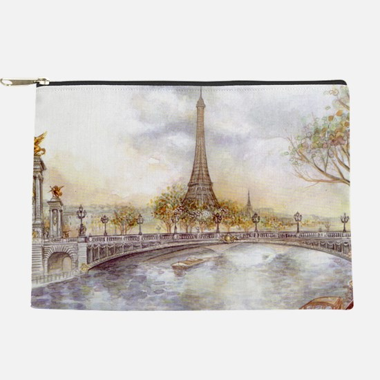 Eiffel Tower Painting Makeup Bag