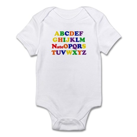 Nate - Alphabet Infant Bodysuit