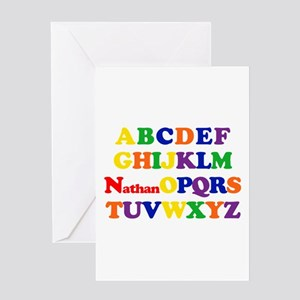 Nathan - Alphabet Greeting Card