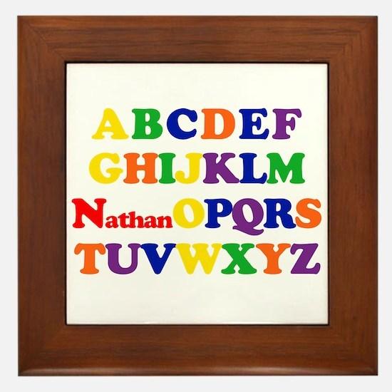 Nathan - Alphabet Framed Tile