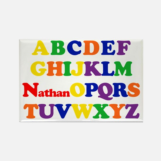 Nathan - Alphabet Rectangle Magnet