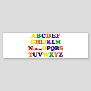 Nathan - Alphabet Bumper Sticker