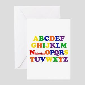 Nicholas - Alphabet Greeting Card