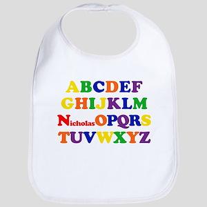 Nicholas - Alphabet Bib