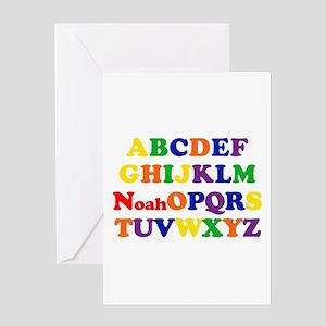Noah - Alphabet Greeting Card
