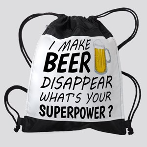 I Make Beer Disappear Drawstring Bag