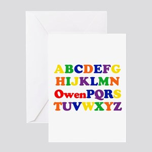 Owen - Alphabet Greeting Card