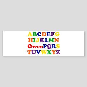 Owen - Alphabet Bumper Sticker