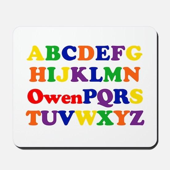 Owen - Alphabet Mousepad
