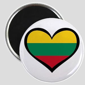Lithuania Love Heart Magnets