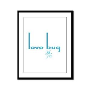 Love Bug in Pink Designs Framed Panel Print