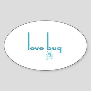 Love Bug in Pink Designs Oval Sticker