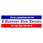 """""""I Support Satire"""" Bumper Sticker"""