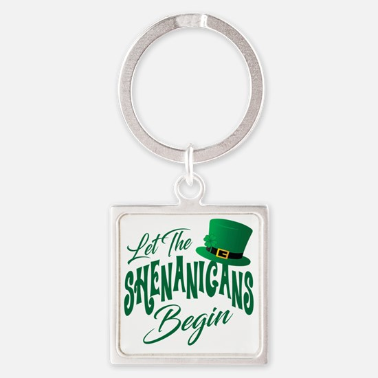 Cute St patricks day Square Keychain