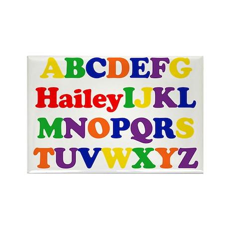 Hailey - Alphabet Rectangle Magnet