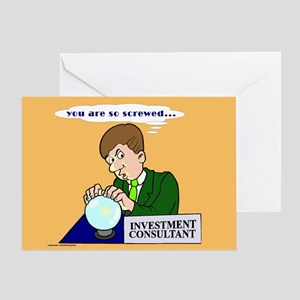 Humorous Investment Consultant Blank Greeting Card