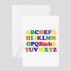 Rich - Alphabet Greeting Card