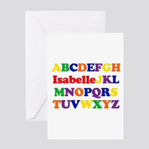 Isabelle - Alphabet Greeting Card