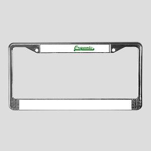 Organic! License Plate Frame