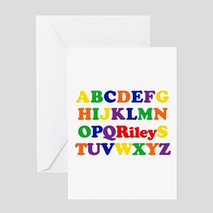 Riley - Alphabet Greeting Card