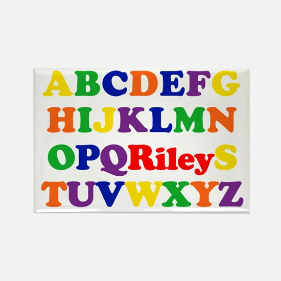 Riley - Alphabet Rectangle Magnet